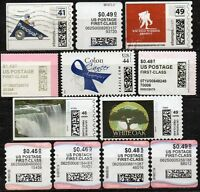 SMALL LOT OF COMPUTER GENERATED STAMPS, STAMPS.COM & OTHER, USED AND OFF PAPER