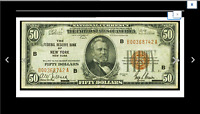 NEW YORK FR. 1880 B $50 1929 FEDERAL RESERVE BANK NOTE PERFECT GIFT