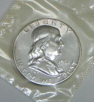 1961 PROOF FRANKLIN HALF DOLLAR IN CELLO FROM U.S. PROOF SET