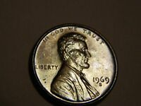1969 S LINCOLN CENT SILVER TONED       LOT 2,560