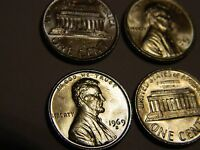 1969 S LINCOLN CENT SILVER TONED 1 FROM THIS LOT       LOT 2,570