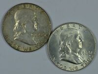 1962 P D FRANKLIN SILVER CIRCULATED HALF DOLLARS SEE STORE FOR DISCOUNT