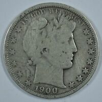 1900 O BARBER CIRCULATED SILVER HALF DOLLAR  SEE STORE FOR DISCOUNTS RD56