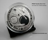 200 CZK KORUN SPUTNIK FIRST SPACE SATELLITE   2007 CZECH PROOF SILVER COIN