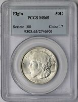 1936 ELGIN 50C PCGS MINT STATE 65  SILVER COMMEMORATIVE HALF DOLLAR