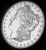 1900 MORGAN SILVER DOLLAR   ALMOST UNCIRCULATED   FAST SHIP   FAST DELIVERY
