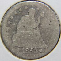 1853 25C ARROWS AND RAYS LIBERTY SEATED QUARTER   LOT  QSL 161
