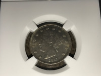 1911 5CT LIBERTY NICKEL NGC MINT STATE 62