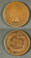 1865  U.S. INDIAN CENT - GOOD, BUT  SLIGHTLY POROUS  STK2B62