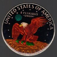 1974 US EISENHOWER ONE DOLLAR COLOR COIN