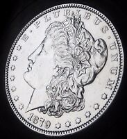 1879 MORGAN SILVER DOLLAR   ALMOST UNCIRCULATED   FAST COIN DELIVERY
