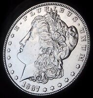 1887-S MORGAN DOLLAR - ALMOST UNCIRCULATED- FAST COIN DELI - FAST SHIPPING