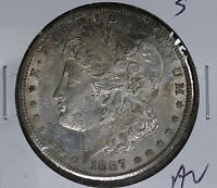 BETTER DATE 1887-S MORGAN DOLLAR - ALMOST UNCIRCULATED COIN