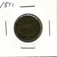1871 2C TWO CENT COIN