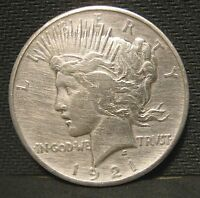 1921 PEACE SILVER DOLLAR CLEANED