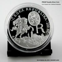 200 CZK KORUN EMPEROR RUDOLF II. AND PRAGUE   2012 CZECH PROOF SILVER COIN