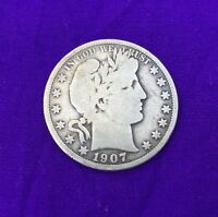1907  BARBER HALF DOLLAR SILVER FOR YOUR COLLECTION CHEAP PRICING BUY IT NOW