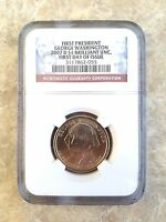 2007 D GEORGE WASHINGTON NGC CERTIFIED BU FIRST DAY OF ISSUE GOLDEN DOLLAR