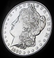 1880 S MORGAN SILVER DOLLAR  NEAR CHOICE BRILLIANT UNCIRCULATED   FAST DELIVERY