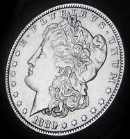 1880  MORGAN DOLLAR   ALMOST UNCIRCULATED   FAST SHIPPING   FAST COIN DELIVERY