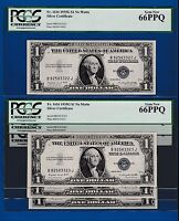 FR.1616   $1  1935 G  SILVER CERTIFICATE B 92583322 J BUY ONE NOTE OF 18 PCGS 66