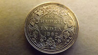INDIA BRITISH RUPEE 1862 10 DOT NICE GRADE