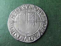 ELIZABETH 1ST    SILVER SHILLING.  ANCHOR MINT MARK  1597 1600    .