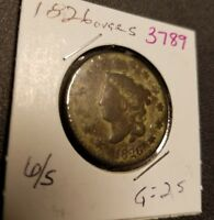 1826 OVER S CORONET HEAD LARGE CENT 3789