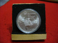 1976 MONTREAL OLYMPICS SILVER 5$ COIN CANADA  MAP OF NORTH AMERICA   B.U.