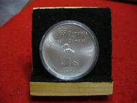 1976 MONTREAL OLYMPICS SILVER 5$ COIN CANADA   CANOEING   B.U.