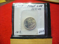 1964 CANADA SILVER DIME  10 CENTS TOP GRADE  64A  PROOFLIKE  SEALED  SEE PHOTOS