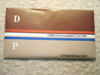 1984 U.S. UNCIRCULATED MINT SET/ SET IN AVERAGE CONDITION/ WOW