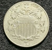 1883 SHIELD NICKEL OLD US COIN