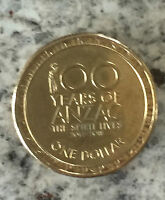 2014  AUSTRALIAN $1.00 COIN.100 YEAR OF ANZAC  YOU JUDGE CONDITION . 0528