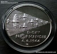 200 CZK KORUN WWII OPERATION D DAY LANDING IN NORMANDY   1994 CZECH SILVER COIN