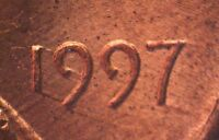 1997 P 1DEO 002T LINCOLN CENT TRAIL DIE