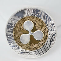 RIPPLE COIN XRP CRYPTO COMMEMORATIVE RIPPLE ROUND COLLECTOR PHYSCIAL COINS GIFT
