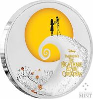 TIM BURTON   DISNEY    THE NIGHTMARE BEFORE CHRISTMAS   1 OZ SILVER COIN