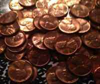 LOT CH/GEM BU RED LINCOLN WHEAT CENTS 10 DATES FROM 1940'S & 1950'S