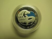2011 PROOF 25 CENTS LEGENDARY NATURE ORCA KILLER WHALE  COIN ONLY .925 SILVER CA