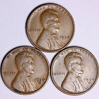 1936  1936-D  1936-S  LINCOLN WHEAT CENTS LOWEST PRICES ON THE BAY FREE S/H