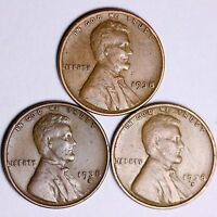 1938  1938-D  1938-S  LINCOLN WHEAT CENTS LOWEST PRICES ON THE BAY FREE S/H