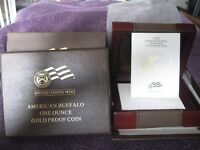 2009 W AMERICAN GOLD BUFFALO BOX AND CERTIFICATE NO COIN