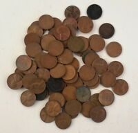 WHEAT CENTS 1950S FIFTIES LOT 83 COINS