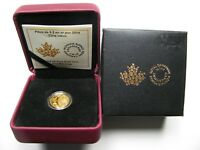 2014 PROOF $5 FIVE BLESSINGS CANADA 1/10OZ .9999 GOLD DOLLARS
