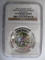 2013 NGC PF69 ULTRA CAMEO $10 DRAGONFLY 1 TWELVE SPOTTED SKIMMER CANADA 9999 AG