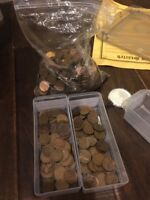 LOT OF OLDER WHEAT CENTS: 46 1909-1919, 40 1920-1929, 200 1930-1939