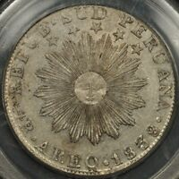 1838 AREQ MV PCGS XF45 SOUTH PERU 4 REALES AREQUIPA OGH GREEN LABEL