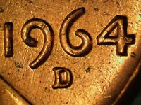 1964 D 1MM 015 WRPM 013 RPM 015 LINCOLN CENT REPUNCH MINT MARK