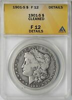 1901-S $1 ANACS F 12 DETAILS CLEANED MORGAN SILVER DOLLAR